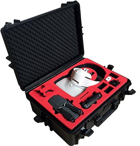 Transportkoffer für DJI Goggles / RE Edition (zusammengesetzt) und DJI Mavic Pro / Platinum mit Platz für 4 Akkus und Zubehör von MC-CASES - Made in Germany - Outdoor Koffer - IP67 Wasserdicht!