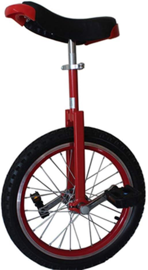 F/ür Kinder mit 1.2-1.4 Metern 16 inch black Mit h/öhenverstellbarem Sitz Einrad Outdoor 16 Zoll Stark und langlebig Erwachsenentrainer Einrad Fettgedruckte Felge aus Aluminiumlegierung Einrad