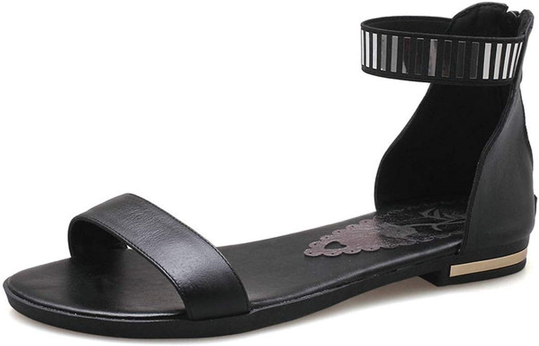 Women Sandals Peep Toe Square Low Heel Buckle gold Women shoes Platform Pu Leather Women Sandals