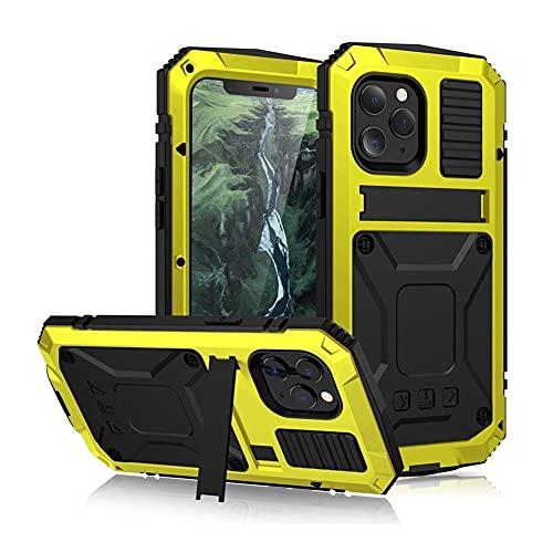 GHC Fundas & Covers Para iPhone Pro Max 12 12 MINI, la caja de protección a prueba de polvo a prueba de golpes pata de cabra caja de vidrio templado de metales pesados de silicona Para el iPhone 12/