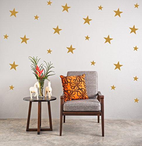 Wall4stickers Oro Estrellas Pegatinas de Pared Calcomanía de Navidad Cuarto de los niños Vinilo Art casa Manchas Mural Lunares Decoración