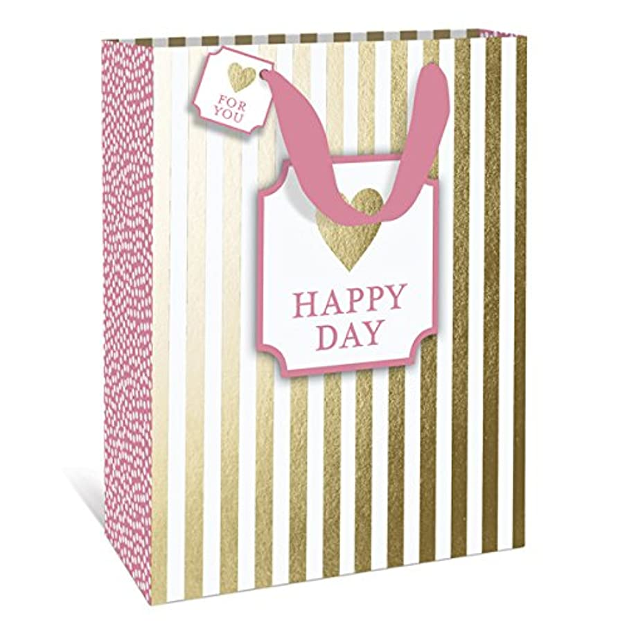 Happy Stripe Happy Day Large Gift Bag