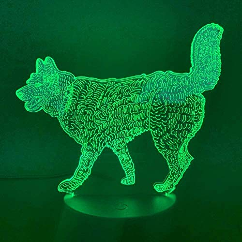 Nachtlicht Tier Chamäleon 3D Licht Berührungssensor 7 Farbwechseldekoration Licht Kinder Kinder Baby Kit Nachtlicht Chamäleon LED Nachtlicht Schlafzimmer Dekoration