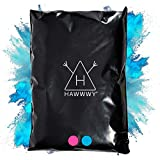 Hawwwy Colorful Powder for Gender Reveal Powder Burnout Baby Girl Announcement Colored Tannerite Surprise Holi Fun Game Motorcycle Exhaust Car Tires Truck Photography Packets (Blue 2 lbs)