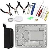 Y-Step 23 pezzi set di strumenti per la creazione di gioielli, tra cui bordo, pinze, taglierino, forbici, righello per orecchini, perline e collane fai da te, artigianato, fissaggio, pulizia