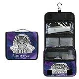 ALARGE - Bolsa de aseo para colgar Galaxy Space Animal Tigre para lavado de gárgaras grande portátil de viaje bolsa de cosméticos organizador de maquillaje para mujeres y hombres