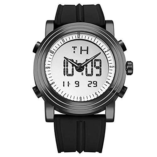 Orologi digitali di gomma degli uomini militari di sport di SINOBI, data automatica luminosa degli orologi a doppio fuso