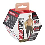 RockTape H2O Edge Highly Water-Resistant Kinesiology Tape with Travel Case, 20 Pre-Cut Strips, Beige