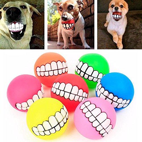 Bingogous Dog Ball Dog Interactivo Ball Treat Dispensing Ball Dog Masticar Pelota para los Dientes de Perro Limpieza y Tratamiento Ideal para Perro pequeño y Mediano