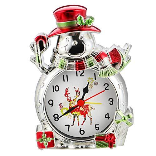 ABOOFAN Retro Wecker Weihnachten Wecker Schneemann Uhr Desktop-Dekoration für Weihnachten Ferienhaus Dekoration