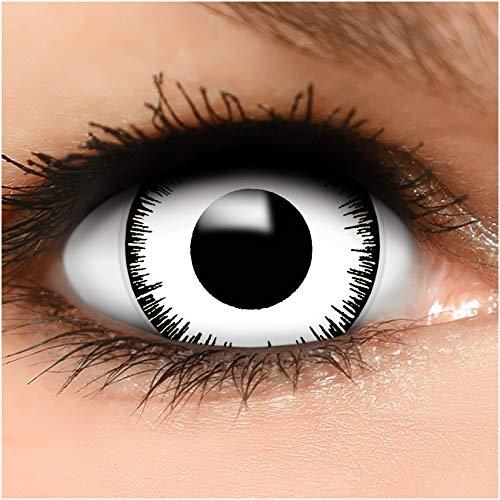 Farbige Maxi Sclera Kontaktlinsen Lenses Vampir inkl. Behälter - Top Linsenfinder Markenqualität, 1Paar (2 Stück)