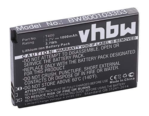vhbw Li-Ion Akku 1000mAh (3.7V) für Smartphone, Handy, Handy für Swissvoice MP40 wie T-400.