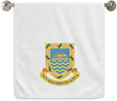 DIYthinker Tuvalu Oceania National Emblem Circlet White Towels Soft Towel Washcloth 13X29 Inch