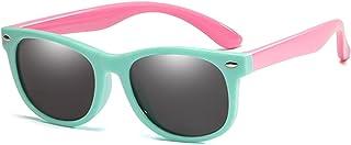 ZHHAO - ZHHAO Niños polarizados Gafas de Sol TR90 Boys Girls Gafas de Sol Silicona Marco de Seguridad Gafas Regalo para niños Bebé UV400 Eyewear