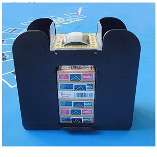 Card Shuffler Automatic 6 Deck Automatic Machine Poker Casino Dealer Electric Best Blackjack Battery Operated Powered Quiet & eBook by Easy2Find