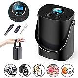 BIUBLE Akku Elektrischer Reifenpumpe Auto-Luftpumpe Portable mit 2000mAh Batterie mit LCD Display für Auto, Fahrrad, Basketball, Football