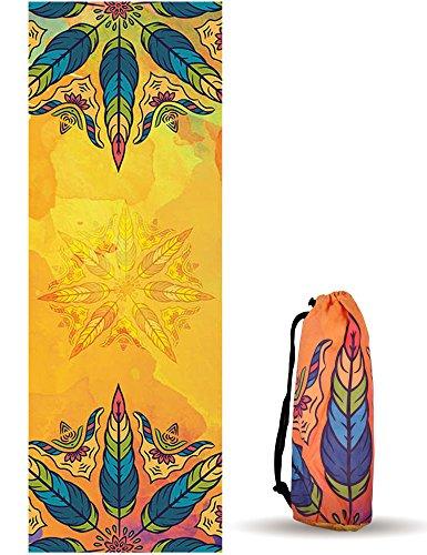 UCEC Mikrofaser Yoga Handtuch für Yogamatte 183 x 63cm, Hot Yoga Handtuch, Bikram Yoga Handtuch, Ashtanga Yoga Handtuch - Non Slip, Super Saugfähig, Schnelles Trocknen - Frei Tragetasche
