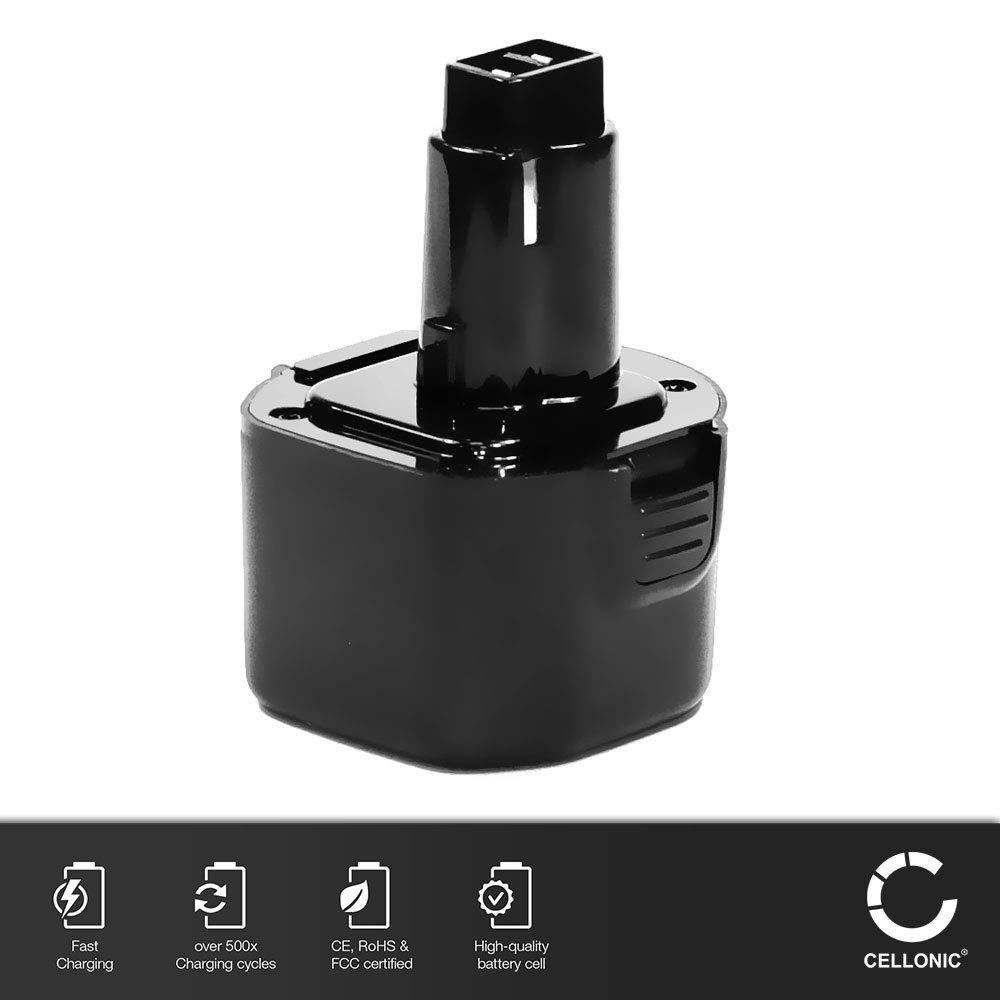 18V, 3Ah, NiMH DE9098 bateria de Repuesto Compatible con Dewalt DC212 // DC212N // DC212KA // DC213 // DC213KB // DC330 // DC330KB Pila reemplazo Herramienta CELLONIC/® Bater/ía Premium DE9503