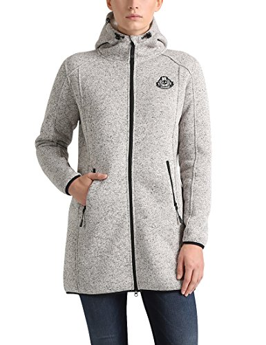 Ultrasport Damen Teddy Strickfleece-Jacke, Beige, S