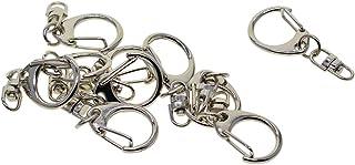 B Baosity 10 Stücke Metal Swivel Lanyard Karabinerhaken drehbarer Wirbel Karabiner Clip