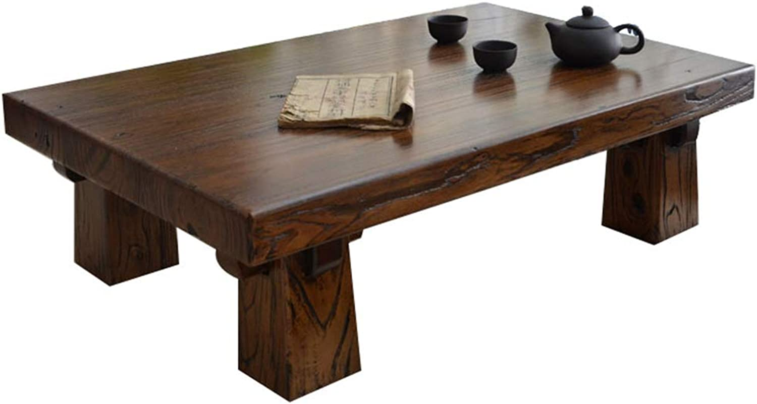 Tea Table Oak Tatami Terrace Solid Wood Small Table Tea Table Bay Window Table Tables (color   Brown, Size   50  35  25cm)