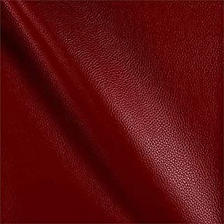 Free Worldwide Delivery Furnishing Fabrics New Thick Hardwearing Faux Suede Leatherette Vinyl Aged Effect Upholstery Fabric Red