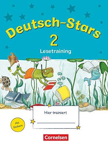 Deutsch-Stars - Allgemeine Ausgabe - 2. Schuljahr: Lesetraining - Übungsheft - Mit Lösungen