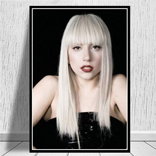 KWzEQ Poster Print Pop Singer Music Singer Album Rap Canvas Oil Painting Art60X80cmFrameless painting