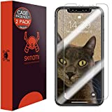 Skinomi TechSkin [2-Pack] (Case Compatible) Clear Screen Protector for Apple iPhone Xs Max (6.5') Anti-Bubble HD TPU Film