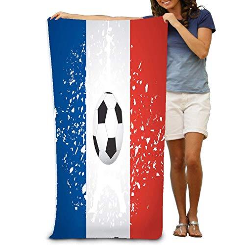 Aubrdon Strandtuch Stuhl (130X80Cm) Handtücher Decke Frankreich Fußball Fußball Hintergrund Glasscherben Turm