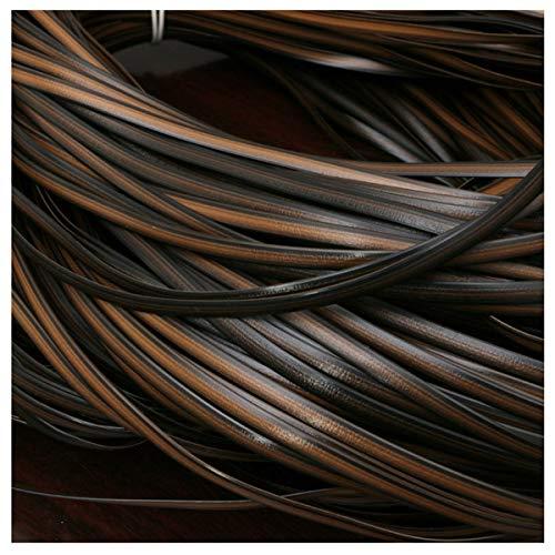 Queenbox 8 mm * 10 m Gradiente Tejido Plano de ratán, reparación de ratán sintético Material de Punto Plástico de ratán para Muebles para el hogar de Bricolaje, Mesa de Silla, Cesta de Almacenamiento