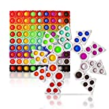 1030design 108PCS Push Pop Bubble Bricks DIY Set Dimple Building Blocks Pack for Creative Play Fidget Sensory Puzzle Infinity Cube Toy for Kid Adult Autism Anxiety Stress Relief Gift