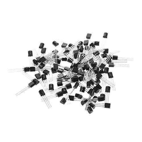 SODIAL (R) 100 Stueck 2N5551 Durch das Loch NPN-Transistoren