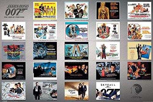 Pyramid America James Bond 23 Movies Set Collection Cool Wall Decor Art Print Poster 36x24
