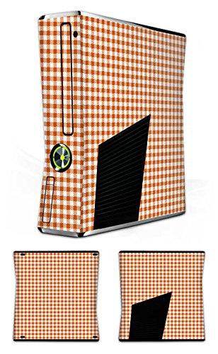 Skin kompatibel mit Microsoft Xbox 360 Slim Aufkleber Folie Sticker Karo Picknick Decke