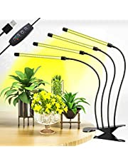 CXhome LED Växtlampa 40W med Clips Helspektrum Grow Light med Timer 3H/9H/12H & 10 Nivåer Dimbar Ljusstyrka för Inomhusväxter Trädgårdsarbete