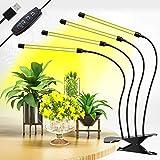 Lampada Coltivazione Indoor Grow Light 40W 80 LEDs Grow LED Coltivazione Indoor con 3H/9H/12H Timer e Luminosità 10 Dimmerabile per Serra/Grow Box/Kit Coltivazione Indoor