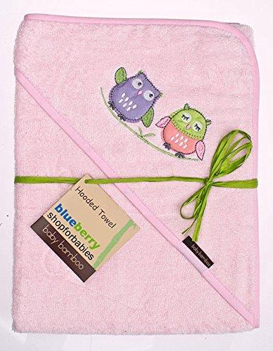 BlueberryShop Bamboe Warm Enorme Hooded Bedrukte Bad/Zwembad Handdoek voor Baby/Peuter, X-Large, Rose