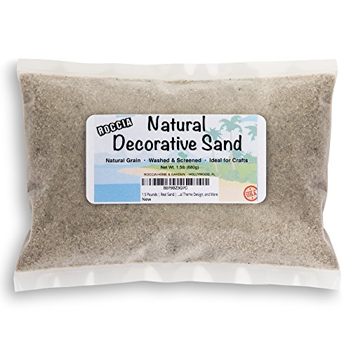 Roccia 2 Pounds Natural Decorative Real Sand - for Interior Decor, Vase Filler, Sand Crafts and More