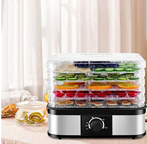 Buy Bargain 5 Level Electric Food Dryer for Fruits, Vegetables, and Meat w/ 360 Degree Circulation