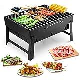 Uten Barbecue Carbone Portatile, Grill Barbecue Carbone Griglia Barbecue per 3-5 Persone Cottura...