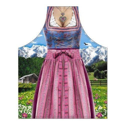 Tobeni 1786 Schürze Bavarian Woman Traditional für Grill und Küche