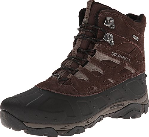 Merrell Men's Moab Polar Waterproof Winter Boot, Espresso, 8 M US