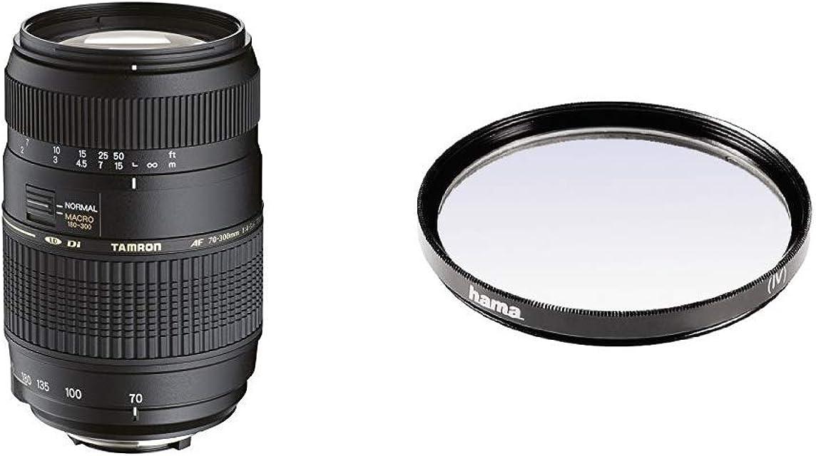 Tamron A17NII - Objetivo para Nikon (70-300mm f/4-5.6 Macro AF 62 mm) Color Negro + Hama 070062 - Filtro Ultravioleta Color Neutro 62 mm