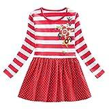 DAY8 Robe Ceremonie Fille 3-8 Ans Automne Habit Vêtement Robe Fille Mariage Pas Cher Hiver Mode Robe Bapteme Soiree Enfant Fille...