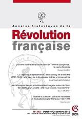 Annales historiques de la Révolution française n° 362 (4/2010) Broché
