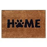 Home Door Mat Pet Dog Paw Print Welcome Doormat Funny Entryway Rug...