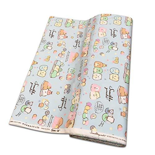 KOKKA すみっコぐらし 綿オックス 1m価格 G-3467 1 B12 青 110cm巾
