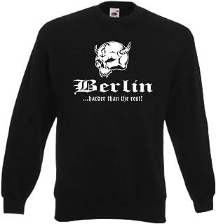 auch in /Übergr/ö/ßen - bis Gr/ö/ße 5XL JN-0.40 James+Nicholson Herren Sweatshirt Black Gr 5XL 5XL,Black