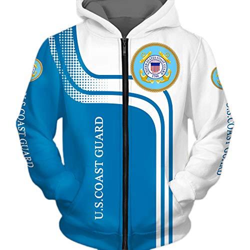 TFTORY-H Männer Hoodies Zum Coast-Guard Schädel Fans 3D Drucken Mode Beiläufig Pullover/Zip Jacke Tops Lose / B1 / S